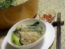 野菜たっぷりヘルシー。豆腐入り肉団子の中華風鍋