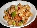 豆腐サラダ・鶏のピーナッツ炒め