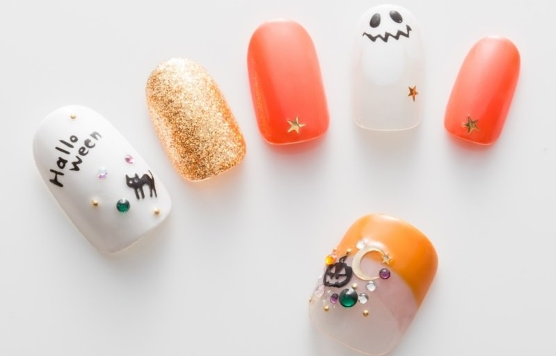 Ghost + Pumpkin Nails = Halloween Spirit! | All About Japan