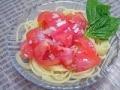 フルーツトマトのさっぱり冷製パスタ