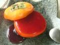 完熟柿とぶどうの葛仕立てデザートレシピ