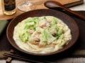 鍋の残り野菜が大変身!白菜とろとろクリーム煮うどん