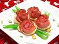 クリスマスの食卓を彩る、ハムの薔薇パイ