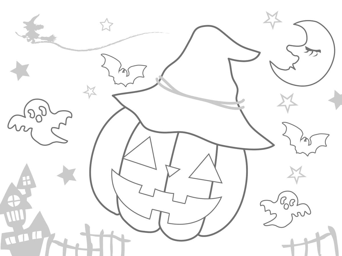 ハロウィンのぬりえ素材を無料ダウンロード 子供とインターネット All About