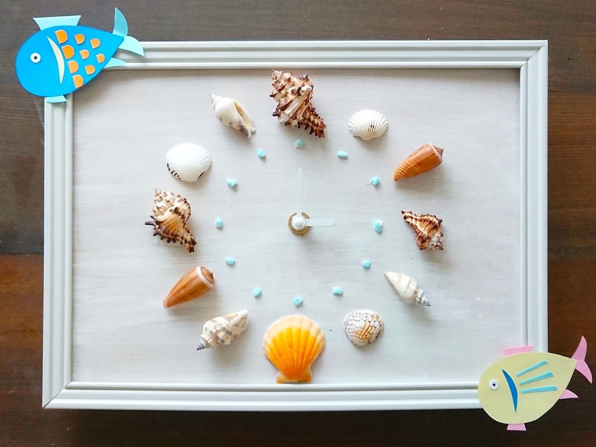 貝殻工作を自由研究やインテリアに!100均材料や貝殻で手作り時計