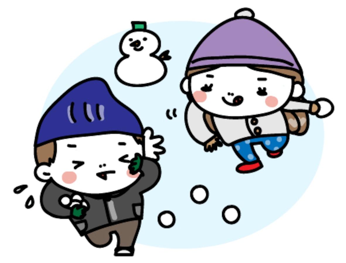 スキースノボ雪合戦冬スポーツの無料イラスト Web素材 All About
