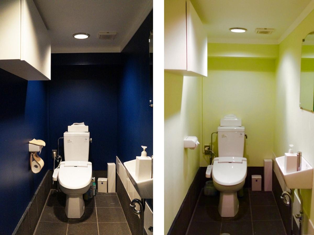 トイレの壁にペンキ塗り おしゃれdiyリフォーム実例 住宅リフォーム