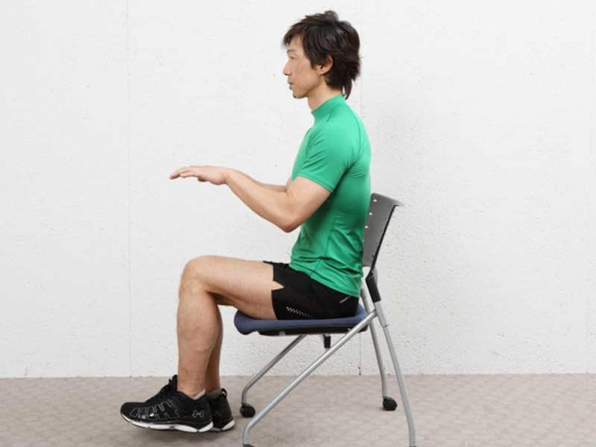 ながら 筋 椅子 に トレ 座り