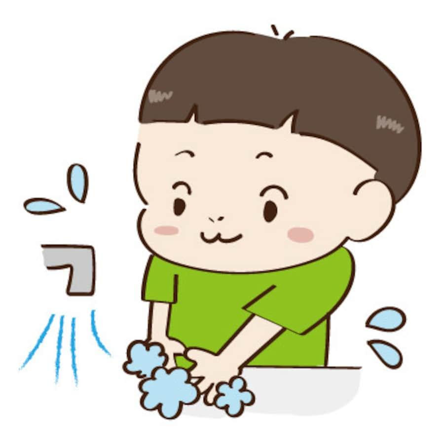 手洗い うがい マスクの無料イラスト集 感染予防のフリー素材 Web素材 All About