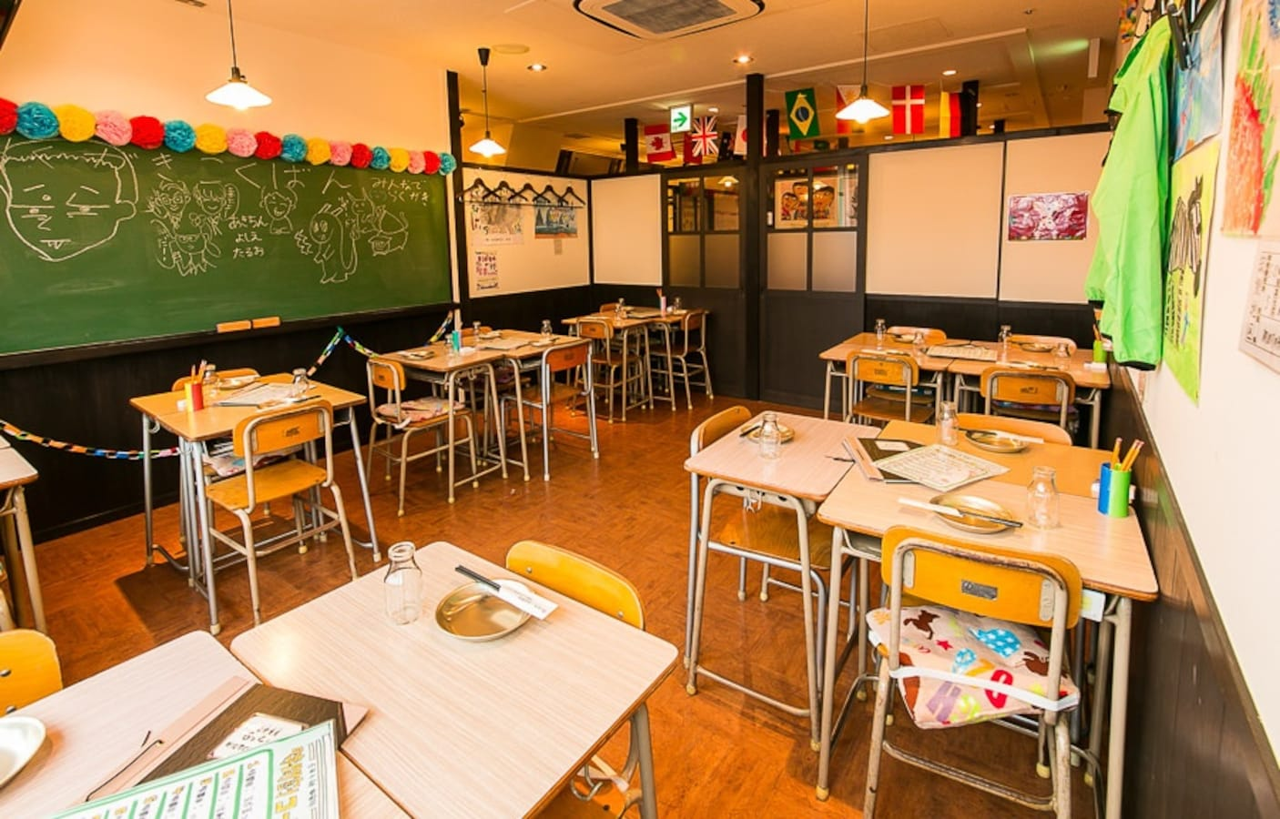 Japanese Classroom Design ~ Step into a japanese classroom at this izakaya all about