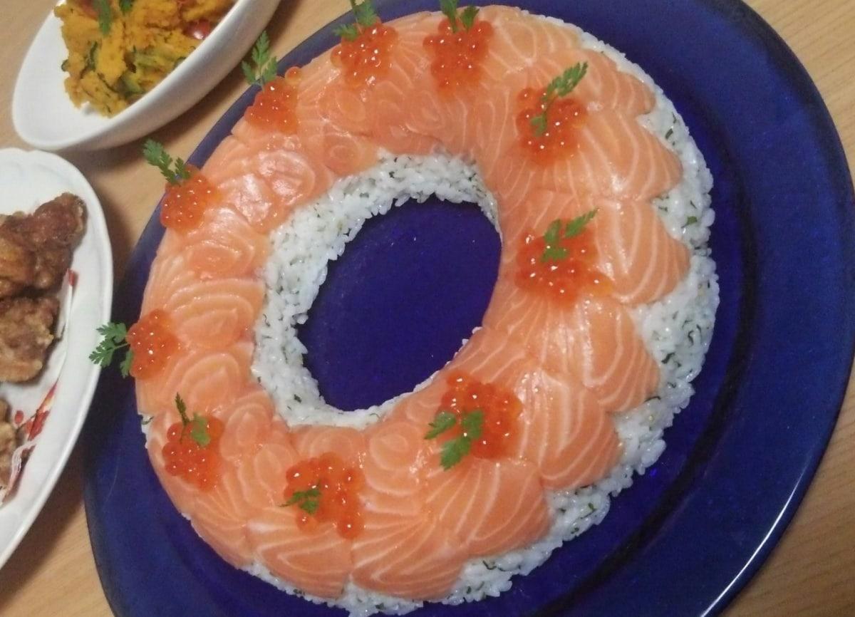 鲑鱼寿司蛋糕