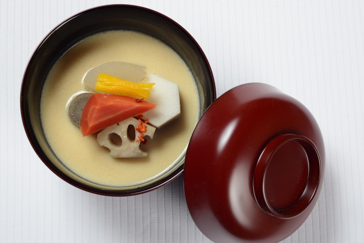 Soup — Root Vegetable Soup with Sake Lees & Saikyo Miso