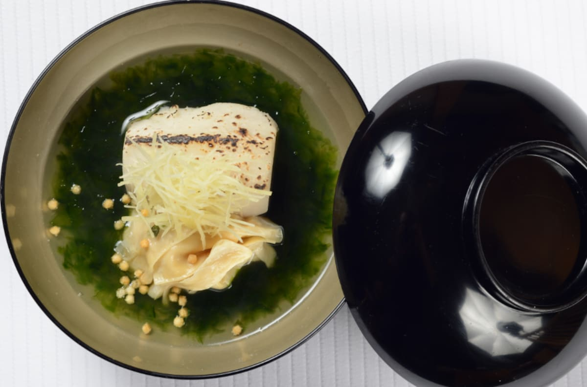 Soup — Taro & Yuba with Nori Seaweed