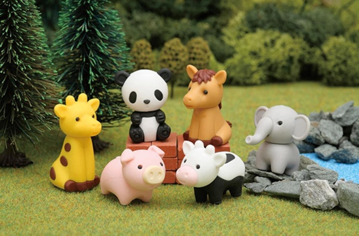1. 動物造型橡皮