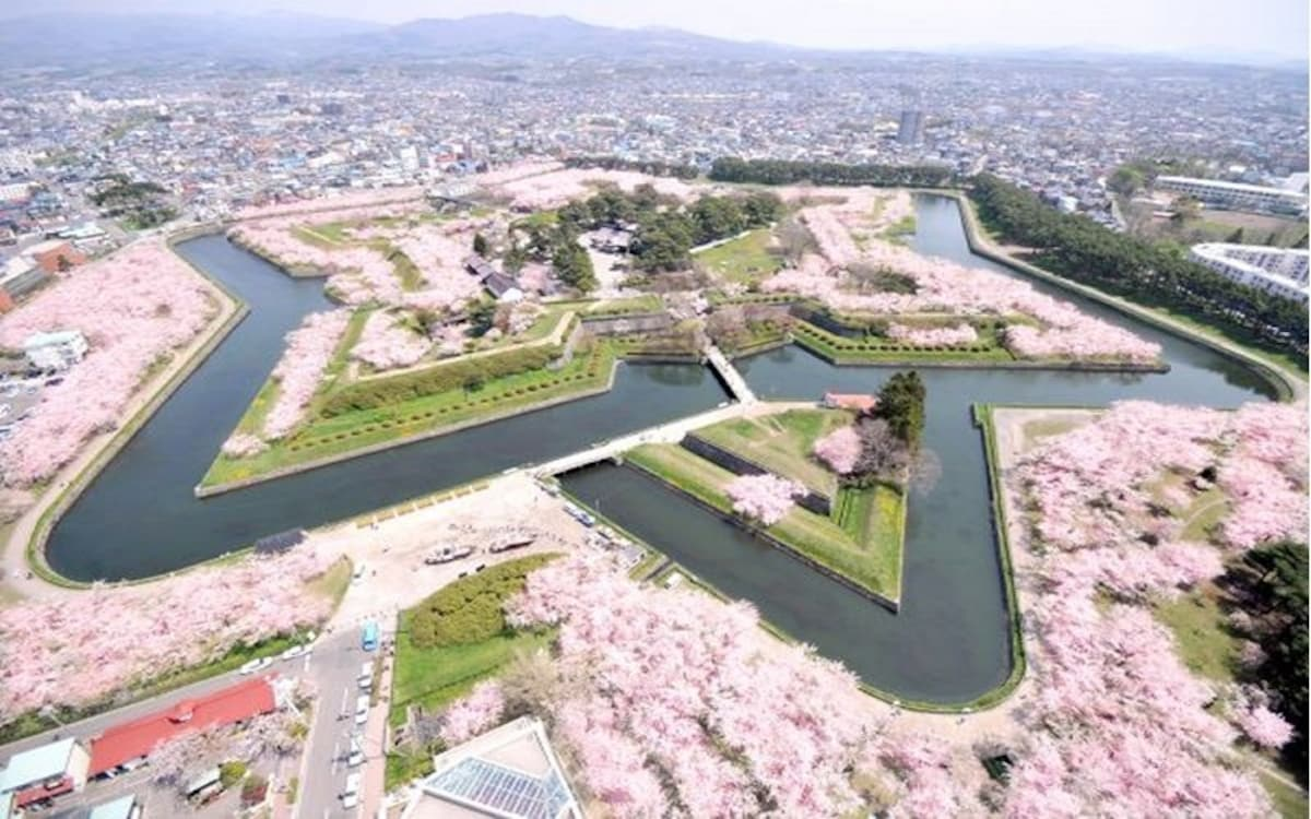 1. Hokkaido: Goryokaku Tower