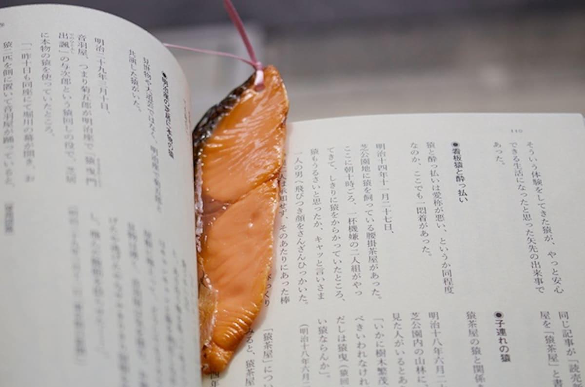 7. ที่คั่นหนังสือปลาซาลมอนย่าง