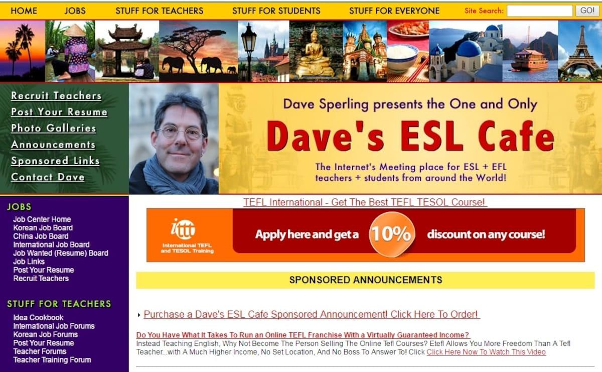 7. Dave's ESL Cafe