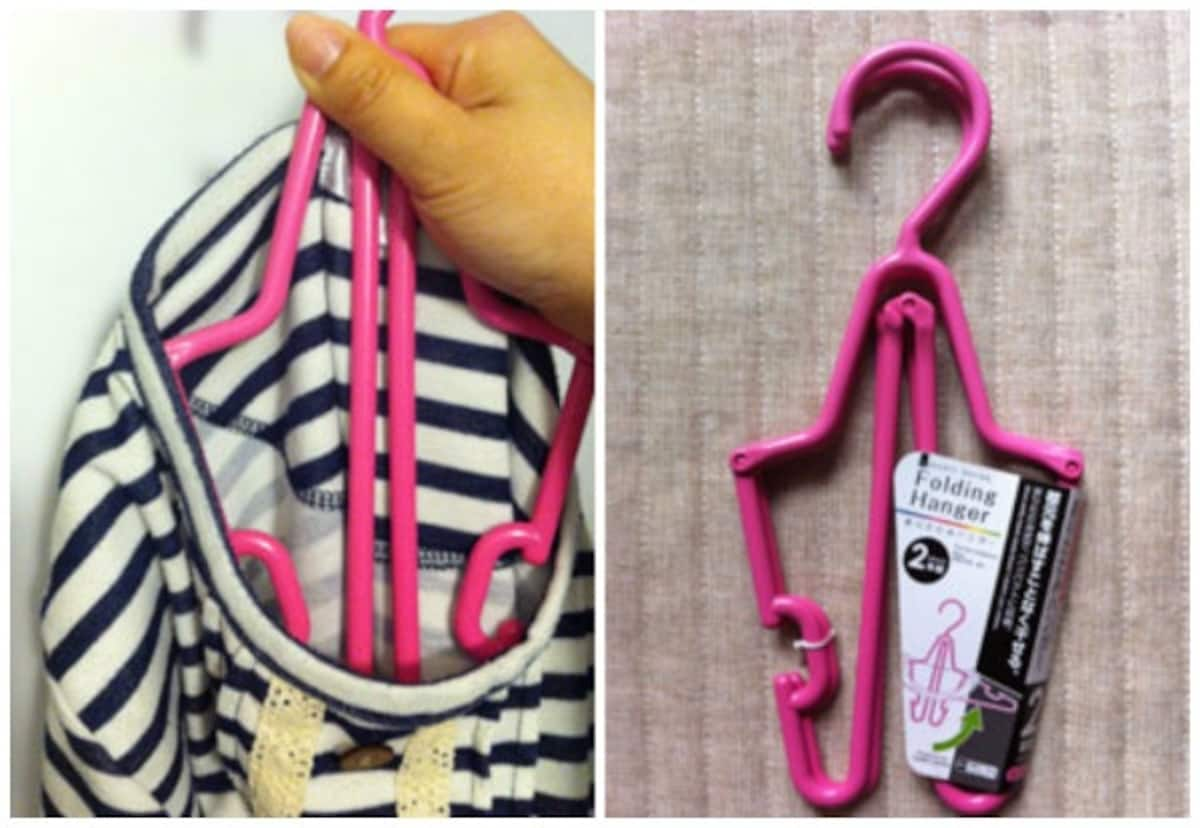 Cute Folding Clothes Hangers (Set of Two)