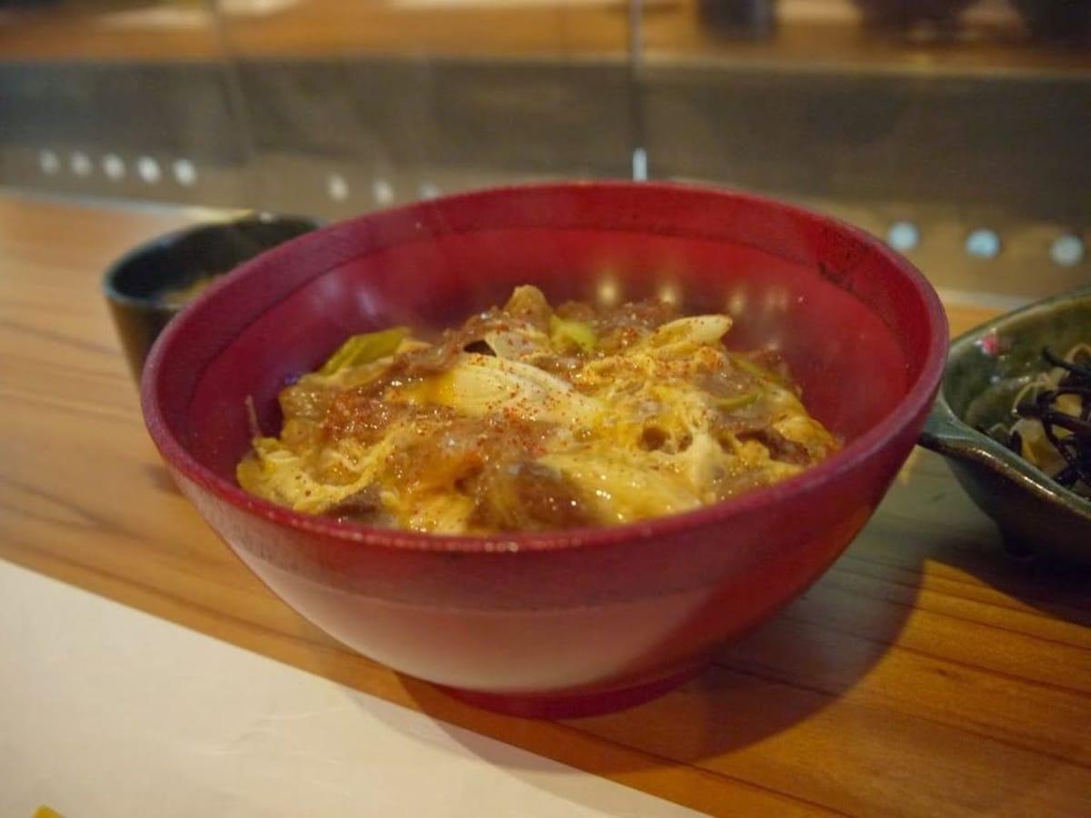 13. Exclusive beef Donburi from Kamogawa Takashi