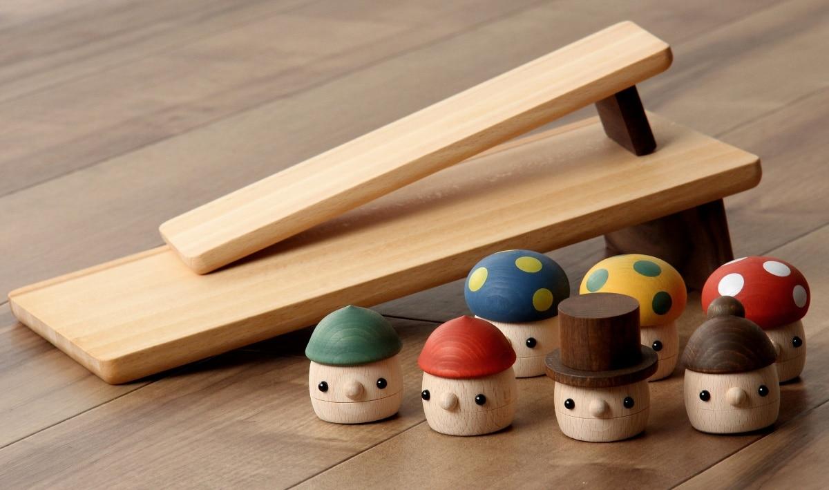 1. Wooden Acorn & Mushroom Toys