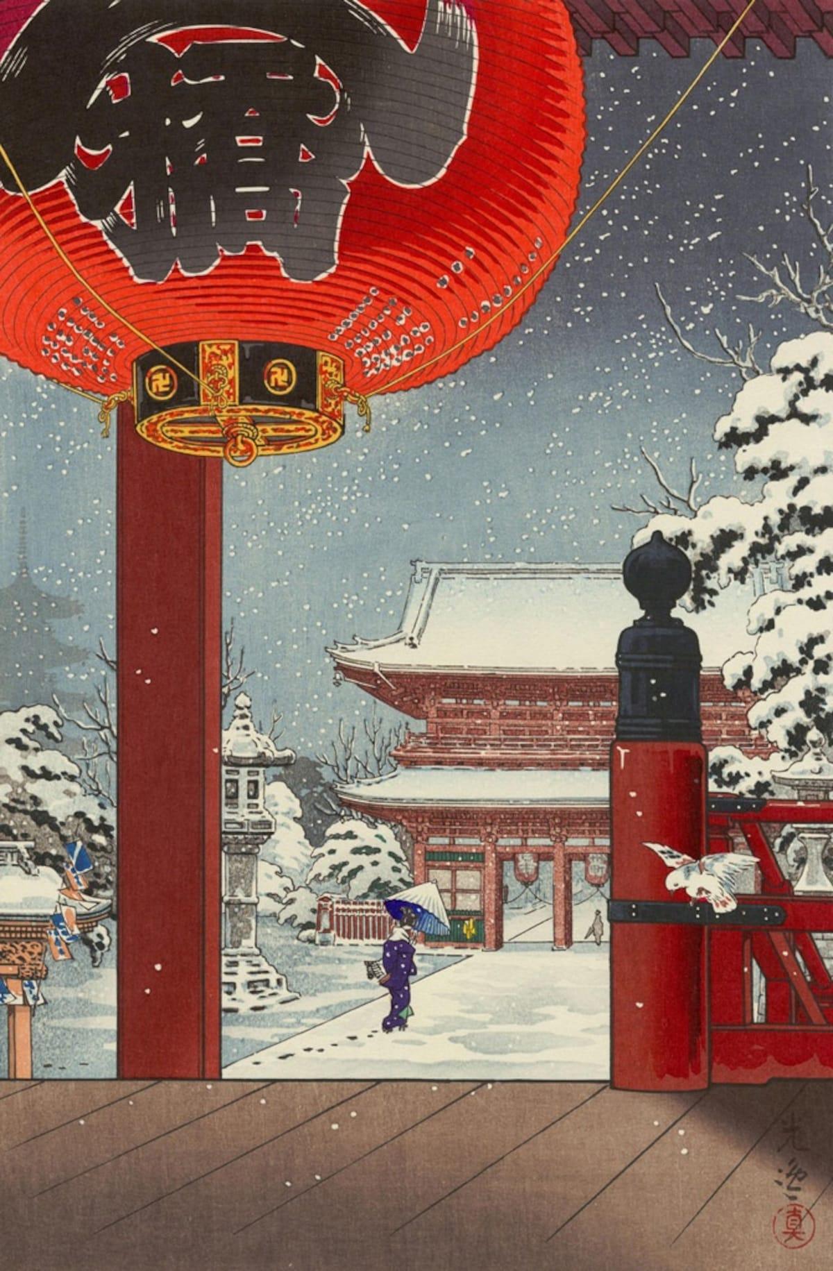 7 วิวหิมะสุดงามในสายตาศิลปินภาพพิมพ์อุคิโยะเอะ | All About Japan