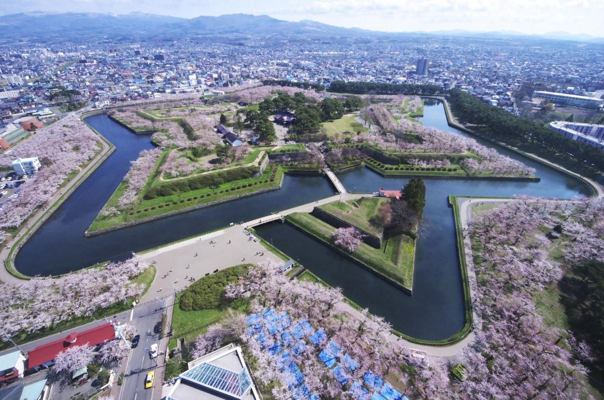 8. ฮอกไกโด : สวนโกะเรียวคาคุ (五稜郭公園)
