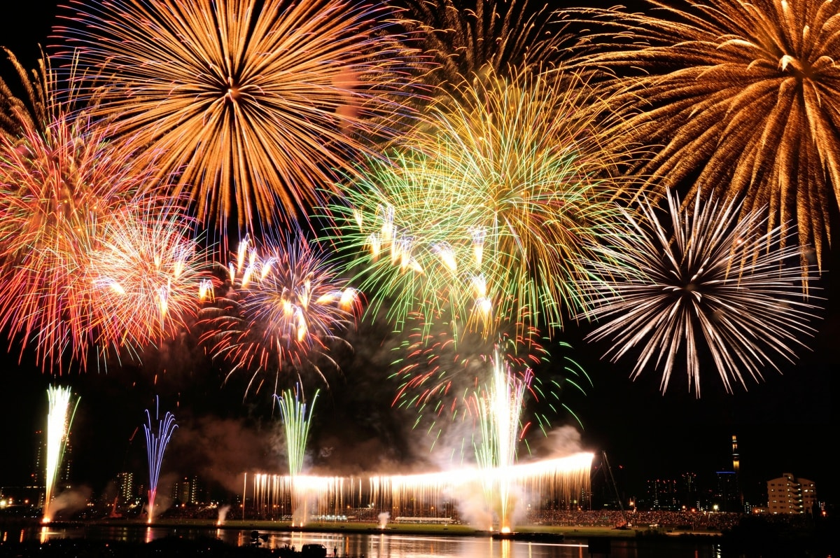 東京夏日最早的煙火秀|足立花火大會