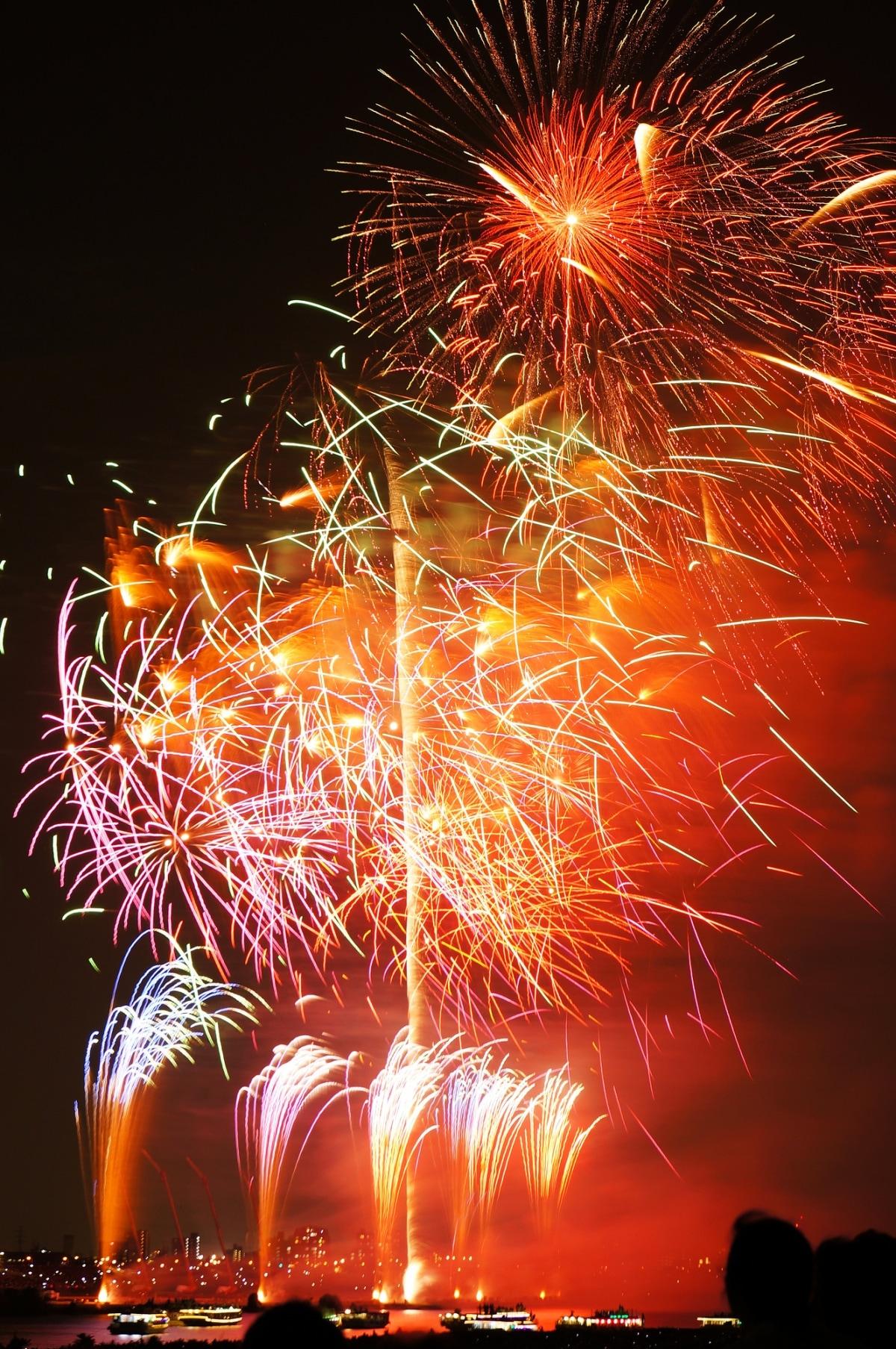 3. งานดอกไม้ไฟที่ Edogawa & Ichikawa