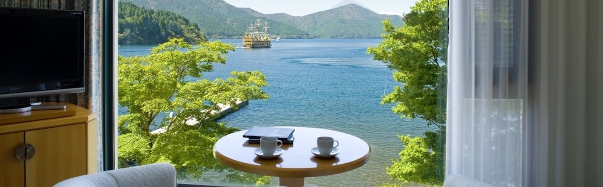 山中湖與湖中屋|箱根富士屋 湖景別館箱根飯店 Fujiya Hotel Lake View Annex Hakone Hotel