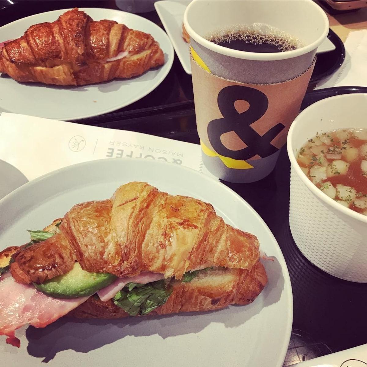 ▍銀座站:新鮮麵包咖啡廳「& COFFEE MAISON KAYSER」