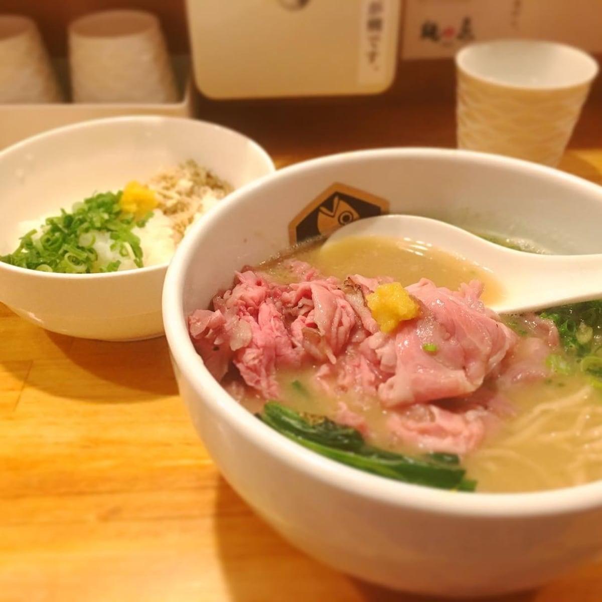 【錦糸町】金黃色湯頭的真鯛拉麵|麵魚