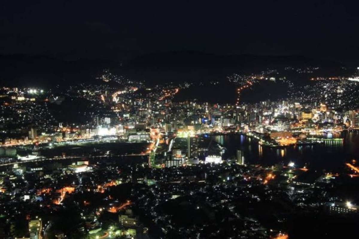 Fantastic Night View from Mount Inasa