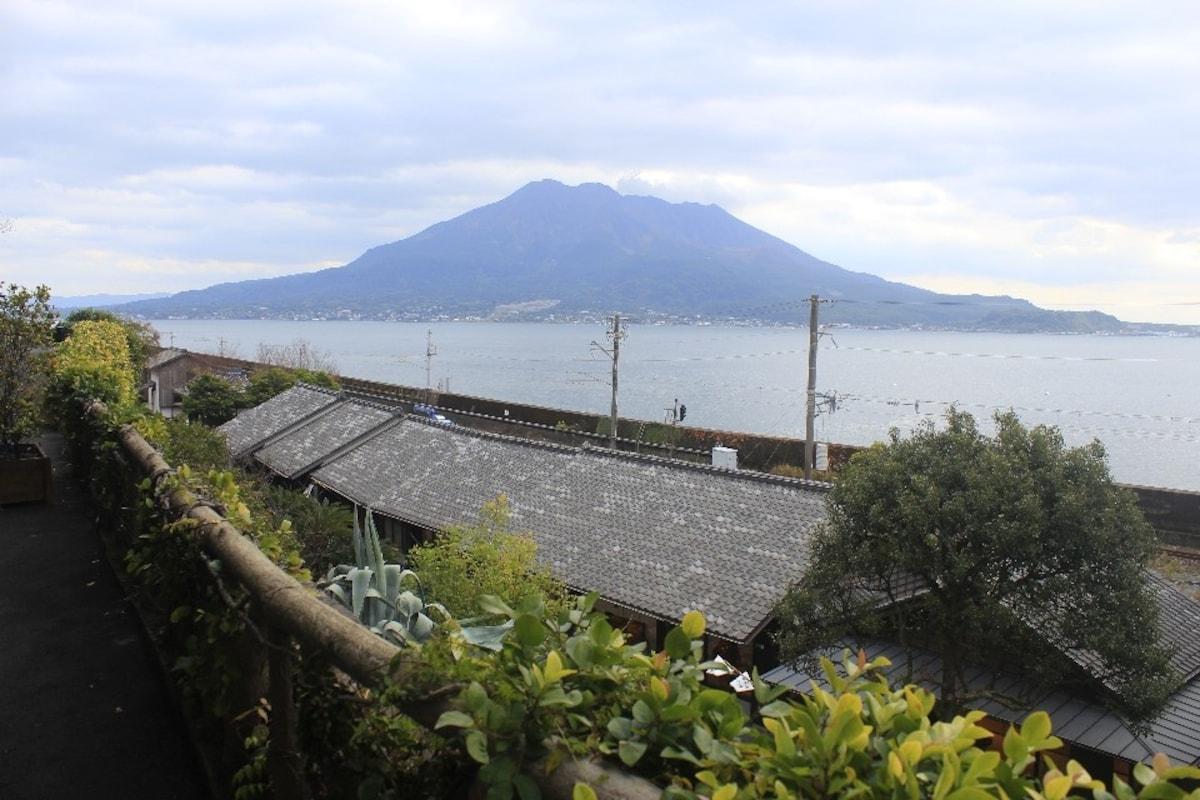 《沐浴櫻島火山熱情的鹿兒島》