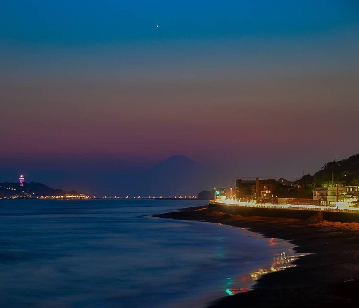 5. 湘南绝景,站在海岸边眺望富士山吧!