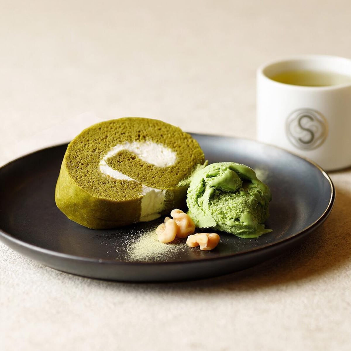 庭園風?抹茶甜點的最高境界|SALON GINZA SABOU
