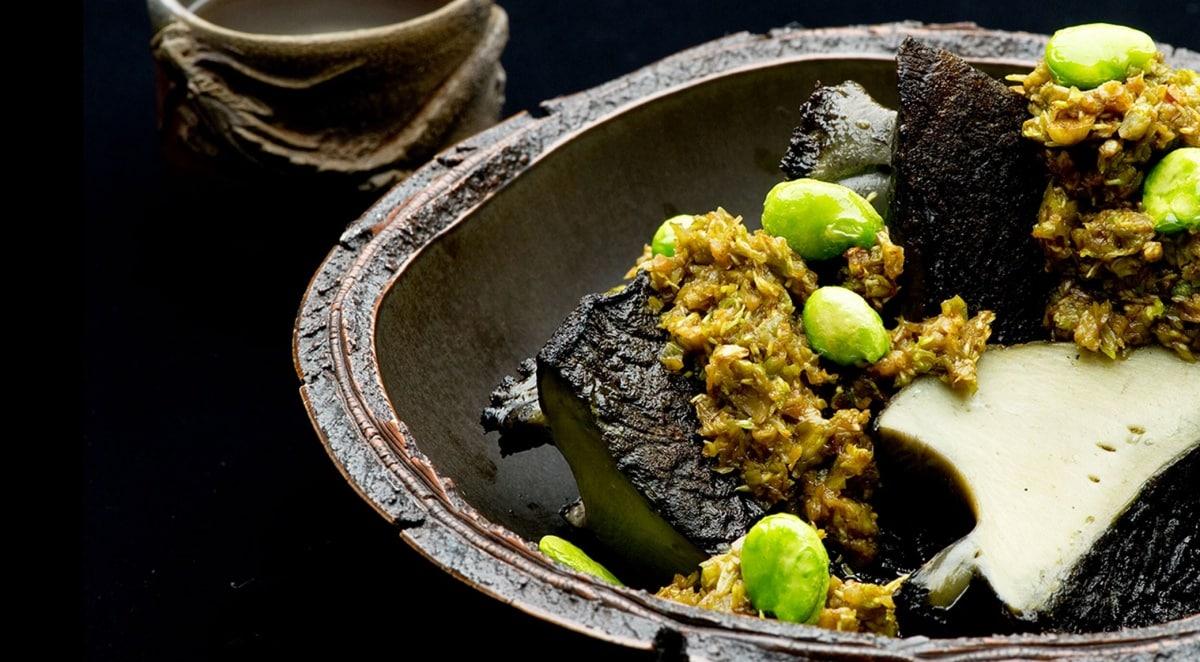 음식의 온도를 잘 활용하는 니혼요리 류긴
