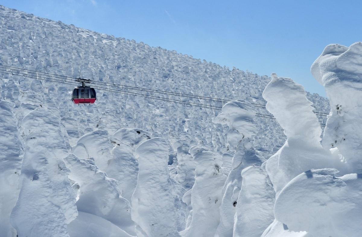 1. เทศกาลปีศาจหิมะที่ซาโอะ จังหวัดยามากาตะ (Zao Snow Monster Festival)