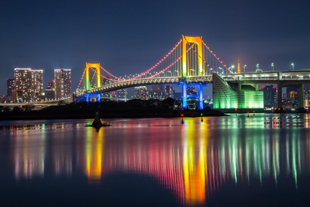 1.โอไดบะ (Odaiba) จุดชมวิวริมทะเลที่สุดบันเทิงของโตเกียว