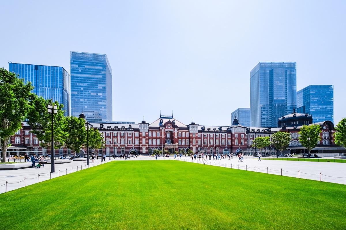 จุดที่ 1 แชะภาพสถานีรถไฟโตเกียว ฝั่งทางออก Marunochi