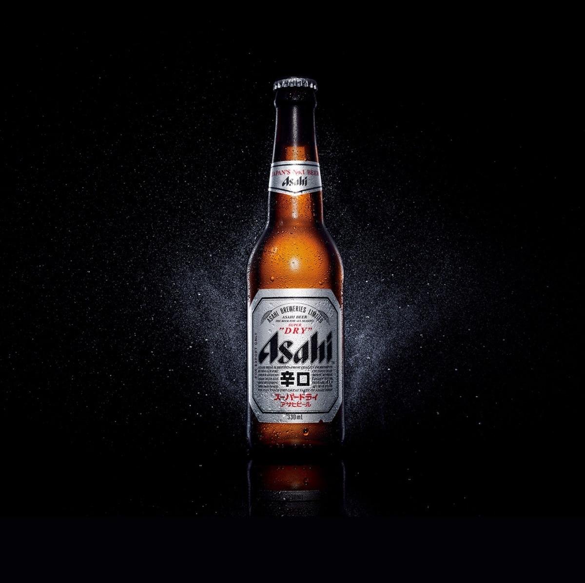 깔끔한 맛의 아사히 맥주