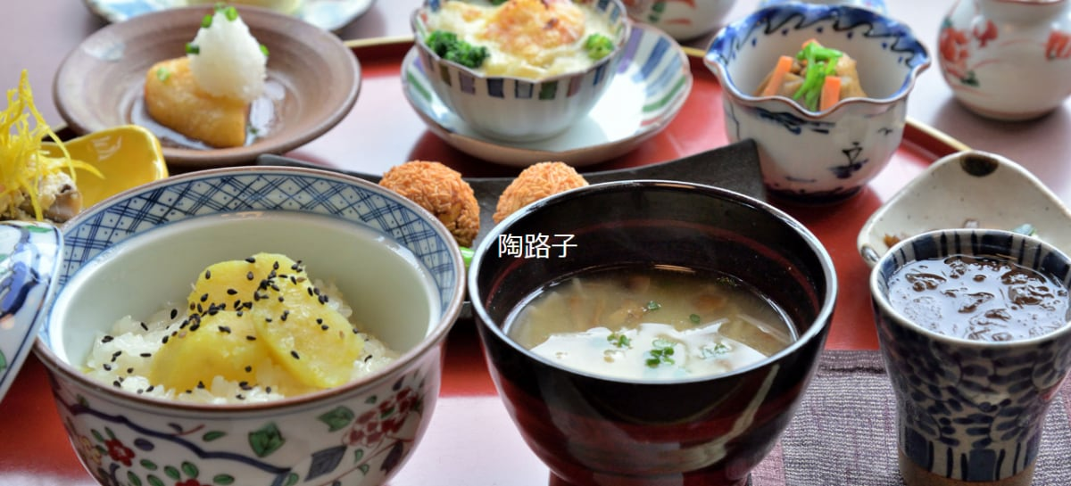 고구마 카이세키(정찬) 요리