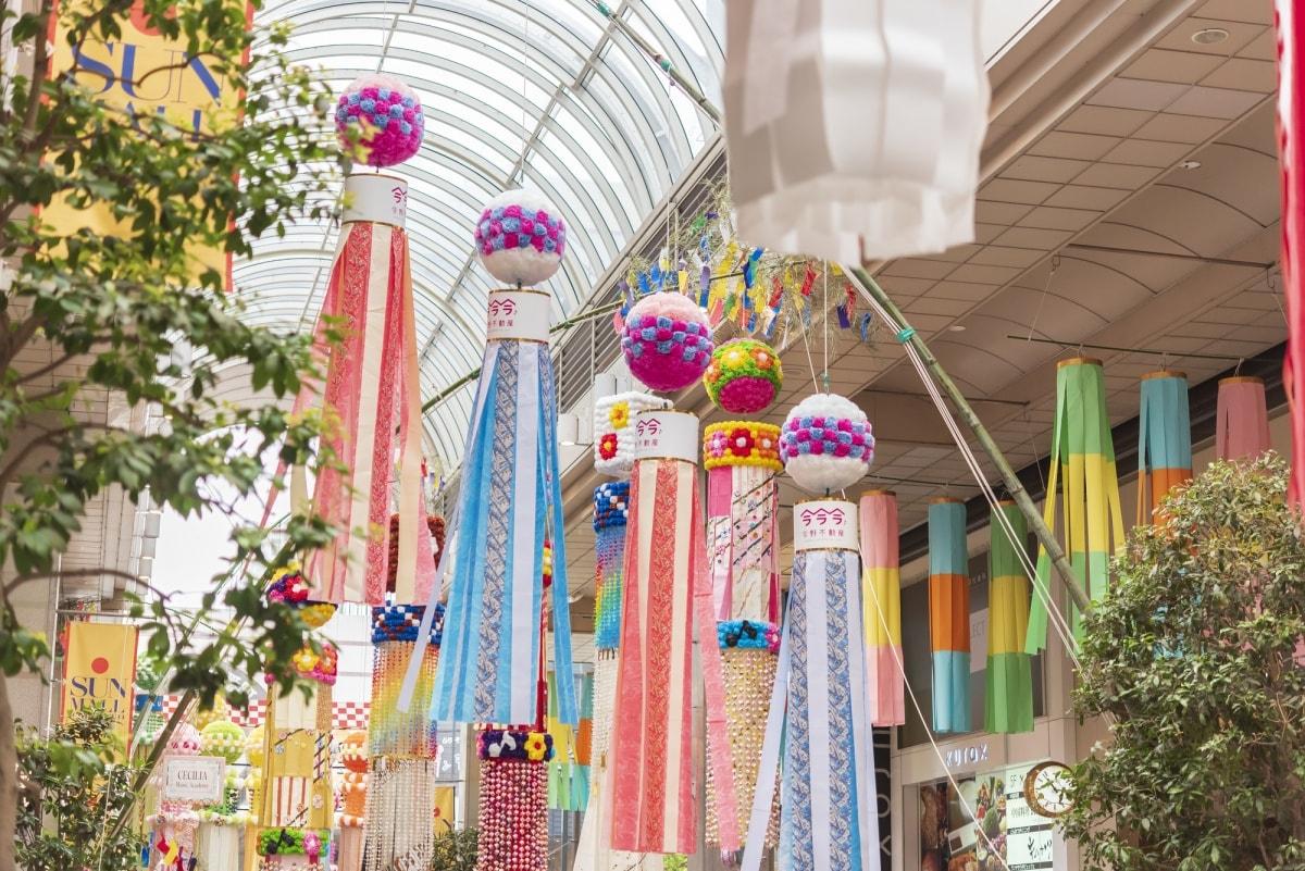 1. เทศกาลทานาบาตะเมืองเซนได, มิยางิ (Tanabata Sendai Festival, Miyagi)