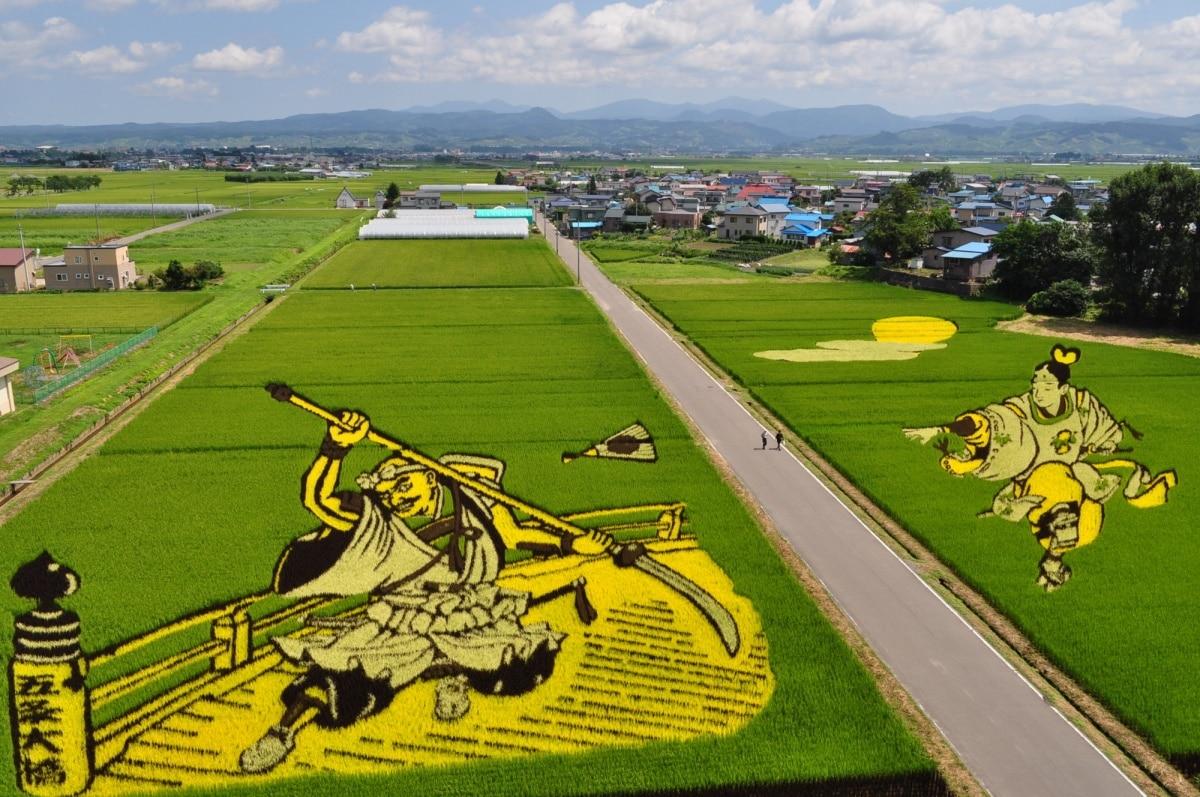 หมู่บ้านอินากะดาเตะ จังหวัดอาโอโมริ (Inakadate Village, Aomori)