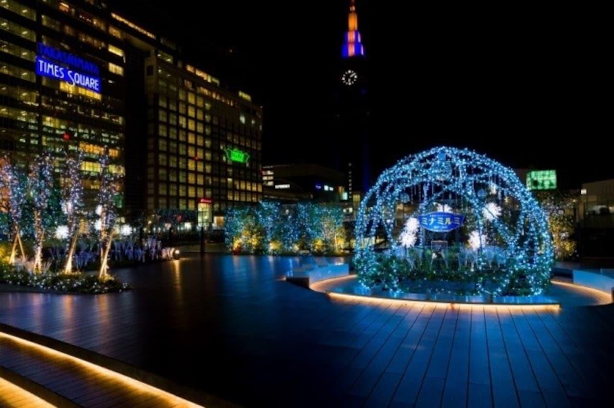 呼朋引伴感受聖誕歡樂氣氛|新宿南口周邊鐵道與商業設施聯合聖誕燈飾「新宿ミナミルミ」
