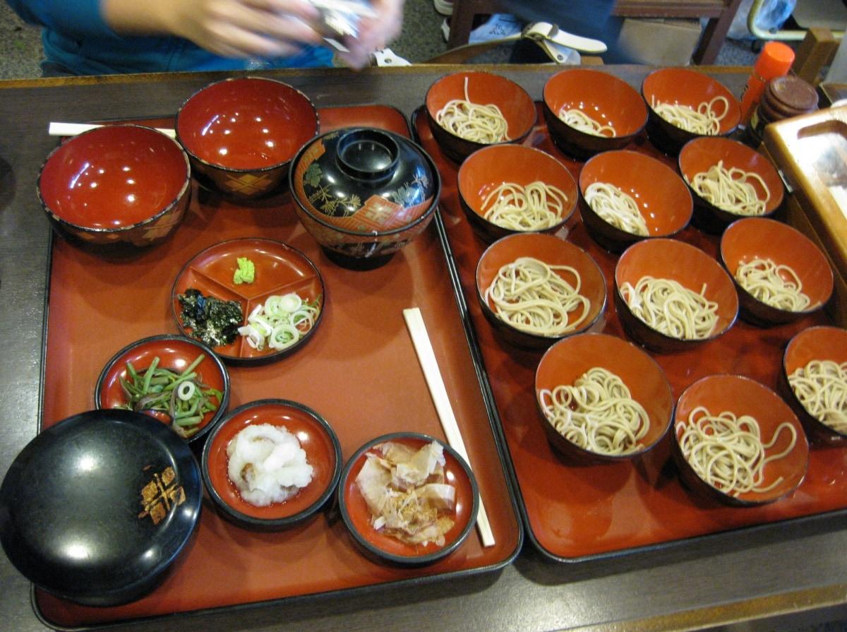 1. วังโกะโซบะ จังหวัดอิวาเตะ (Wanko soba, Iwate)