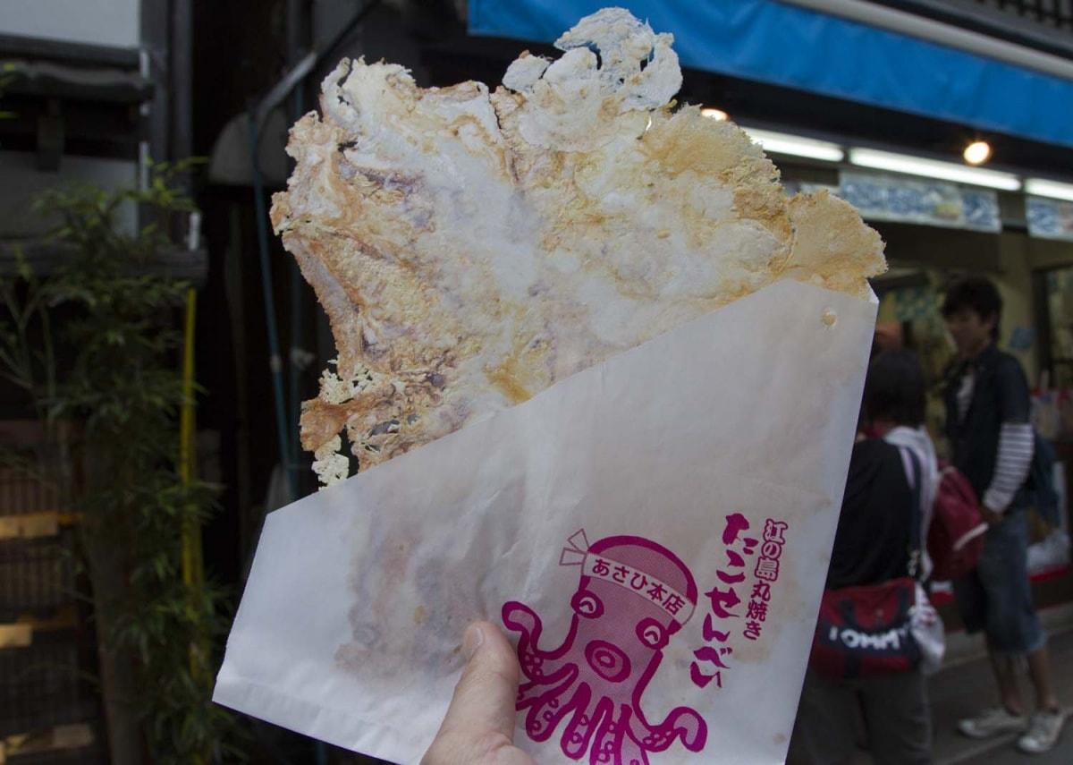 ข้าวเกรียบปลาหมึกยักษ์  タコせんべい - Kanagawa