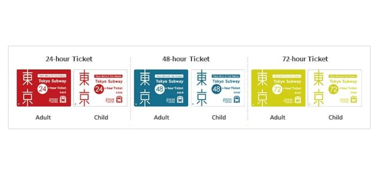 1. พาสรถไฟใต้ดินโตเกียวแบบ 24, 48 และ 72 ชั่วโมง (Tokyo Metro 24, 48, 72 hr Pass)