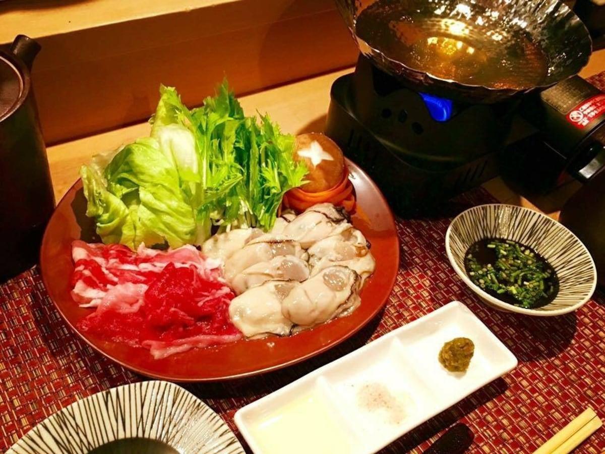 【六本木】與日本酒絕配的絕品牡蠣涮涮鍋|牡蠣しゃぶ酒蠣(牡蠣涮涮鍋)