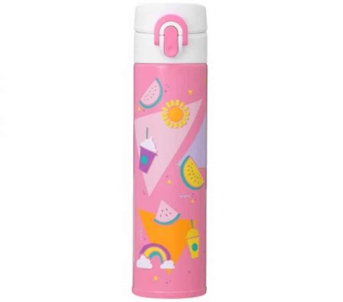 Slim Handy Stainless Steel Bottle in Summer Icons (¥4,000/US$37)