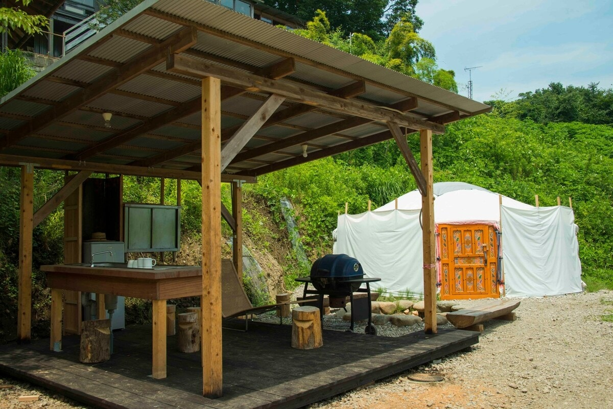 7. Comfortable glamping yurt located right on a farm in Sagamihara